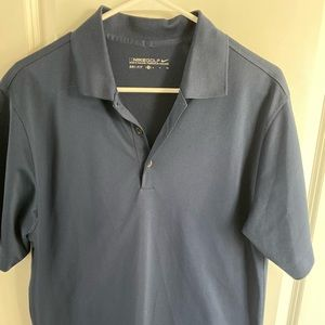 Men's Nike Dry Fit Golf Polo, navy size small
